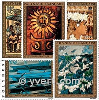 nr. 77/81 -  Stamp Polynesia Air Mail