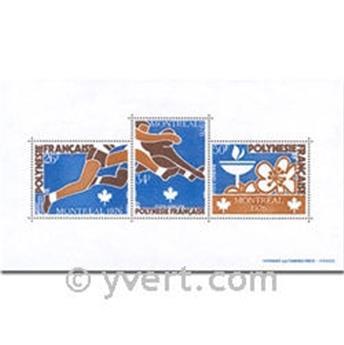 n.o 3 -  Sello Polinesia Bloque y hojitas