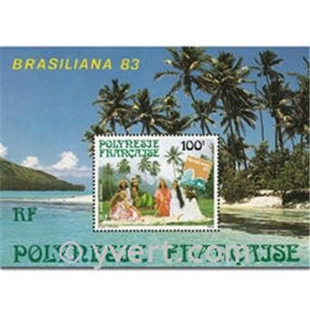 n.o 7 -  Sello Polinesia Bloque y hojitas