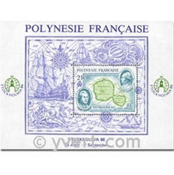 n° 12 -  Selo Polinésia Blocos e folhinhas
