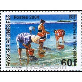 n° 30 -  Selo Polinésia Blocos e folhinhas