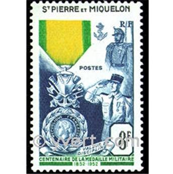 n.o 347 -  Sello San Pedro y Miquelón Correos