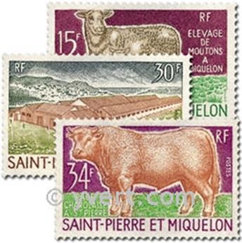 n° 407/409 -  Timbre Saint-Pierre et Miquelon Poste