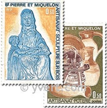 n.o 443/444 -  Sello San Pedro y Miquelón Correos