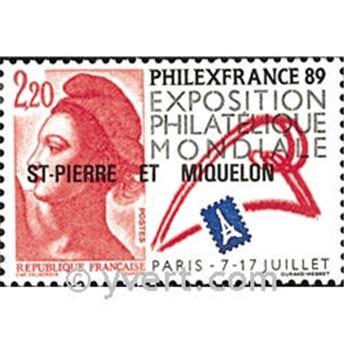 n.o 489 -  Sello San Pedro y Miquelón Correos