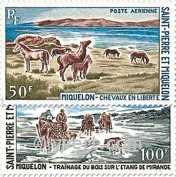 n.o 44 / 45 -  Sello San Pedro y Miquelón Correo aéreo