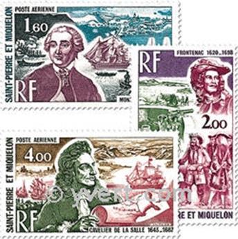n° 54/56 -  Timbre Saint-Pierre et Miquelon Poste aérienne