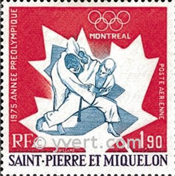 n° 61 -  Timbre Saint-Pierre et Miquelon Poste aérienne