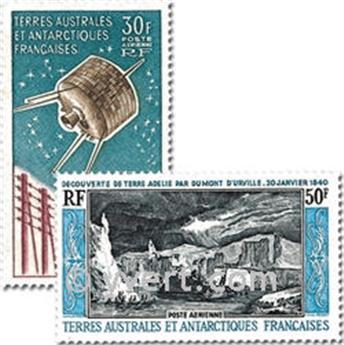 n.o PA8/9 -  Sello Tierras Australes y Antárticas Francesas Año completo (1965)