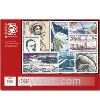 n° 92/94+PA65/70 -  Selo TAAF Ano completo (1981)