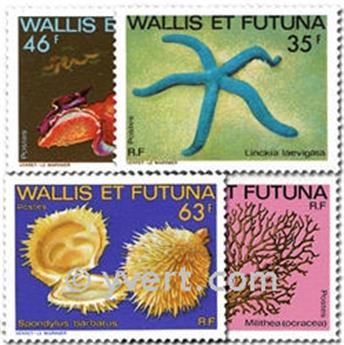 n° 297/300 -  Timbre Wallis et Futuna Poste