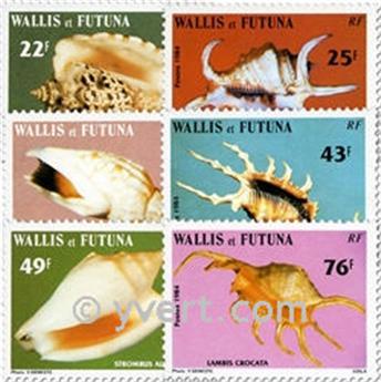 n.o 312/317f (hoja) -  Sello Wallis y Futuna Correos