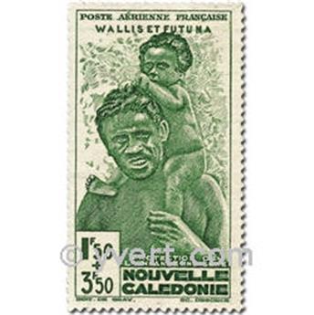 n° 1/2 -  Timbre Wallis et Futuna Poste aérienne