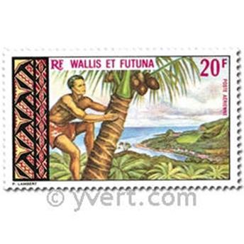 n° 33/37  -  Selo Wallis e Futuna Correio aéreo