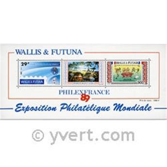 n° 4 -  Timbre Wallis et Futuna Bloc et feuillets