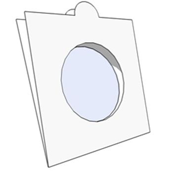 COIN HOLDERS: 30 mm - TO FASTEN