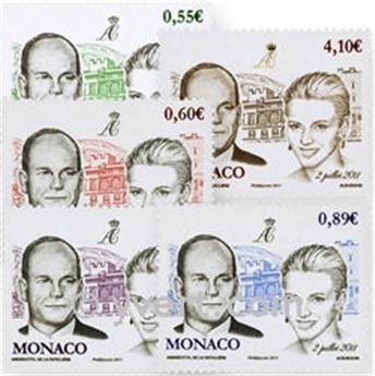 n° 2785/2789 -  Selo Mónaco Correios