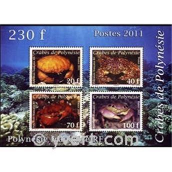 n.o 37 -  Sello Polinesia Bloque y hojitas
