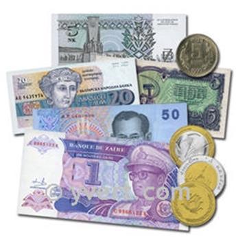 AFGANISTÁN: Lote de 5 billetes