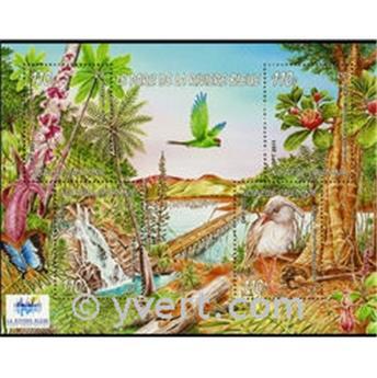 n° 43 -  Selo Nova Caledónia Blocos e folhinhas
