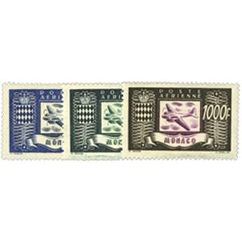 nr. 42/44 -  Stamp Monaco Air Mailn° 42/44 -  Timbre Monaco Poste aériennen° 42/44 -  Selo Mónaco Correio aéreo