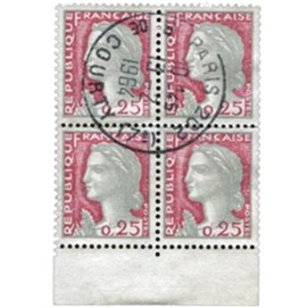 n°1263f obl. - Timbre France Poste