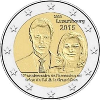 2 EUROS COMEMORATIVAS 2015  : LUXEMBOURGO