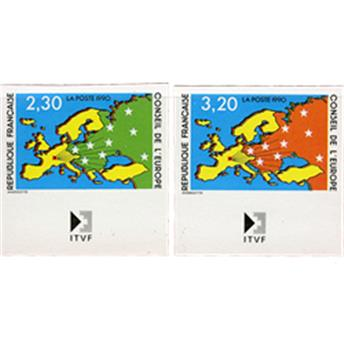 n°104/105** - Stamp France  Official Mail